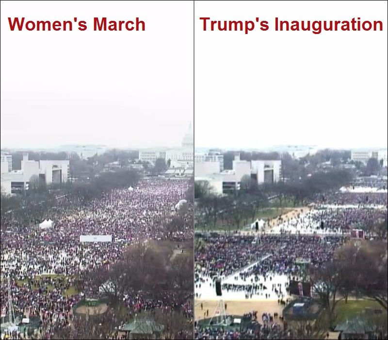 Netizens Compare Crowd At Trump S Inauguration To Other Events