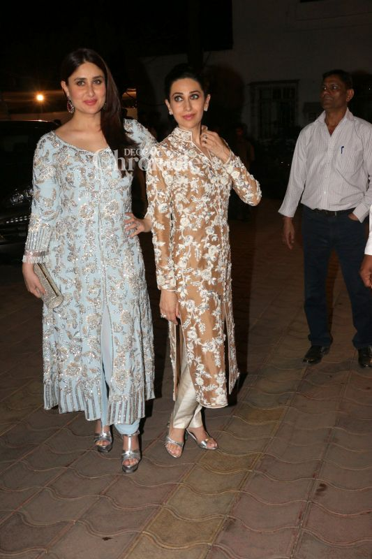Kareena and Karisma looked their glamorous best.