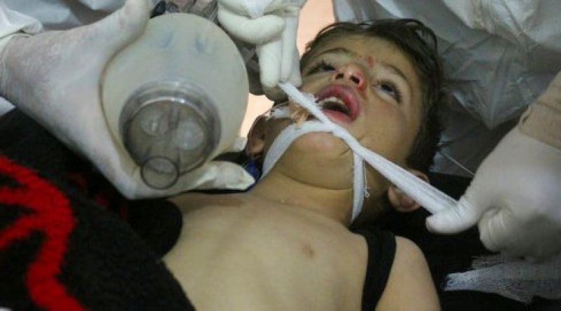 Warplanes carried out a suspected toxic gas attack that killed at least 100 people in Syria's rebel-held north western province of Idlib.