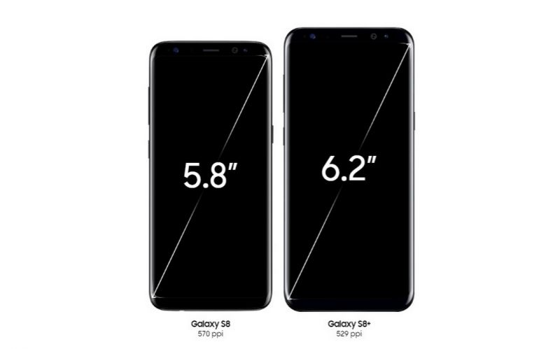 The Galaxy S8 and S8+ comes in two display sizes, 5.8-inch and 6.2-inch, with both having Corning Gorilla Glass 5.