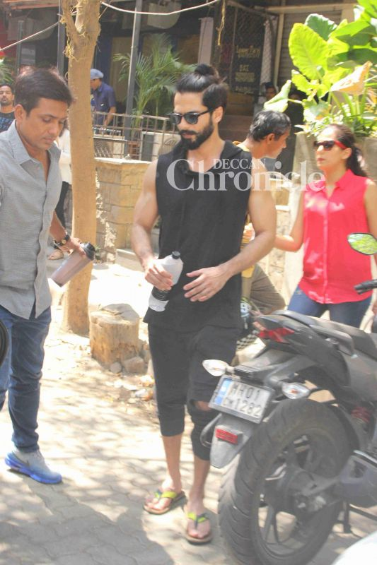 Shahid Kapoor stepped out with his wife Mira for lunch.