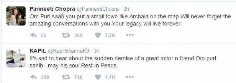 Bollywood mourns veteran actor Om Puri's sudden demise