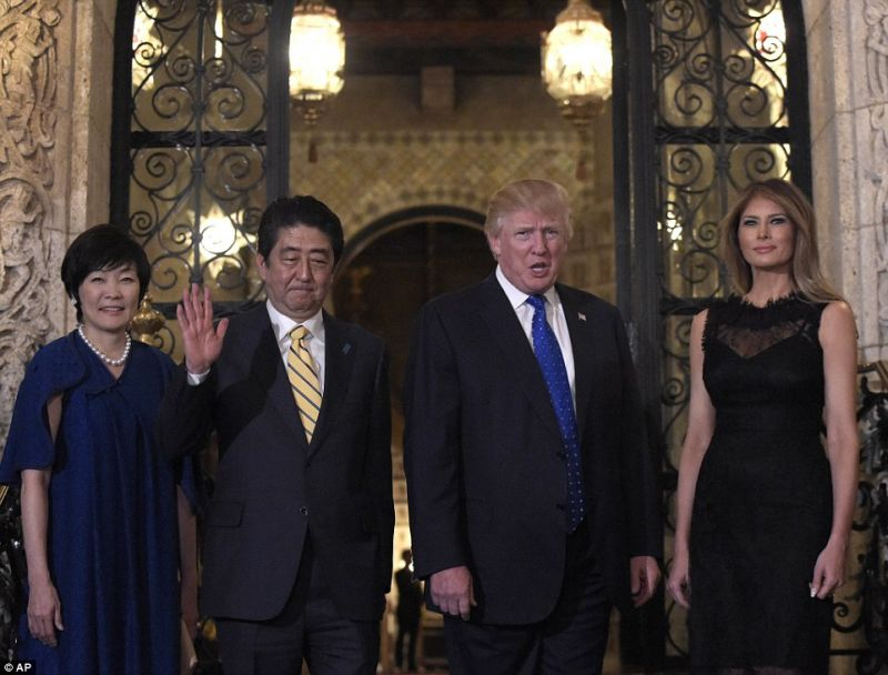 The Japanese prime minister has spent more time with Trump than any foreign leader since the reality TV host's election, as world powers grapple with how to engage with the mercurial American president who conducts some of his diplomacy via Twitter.