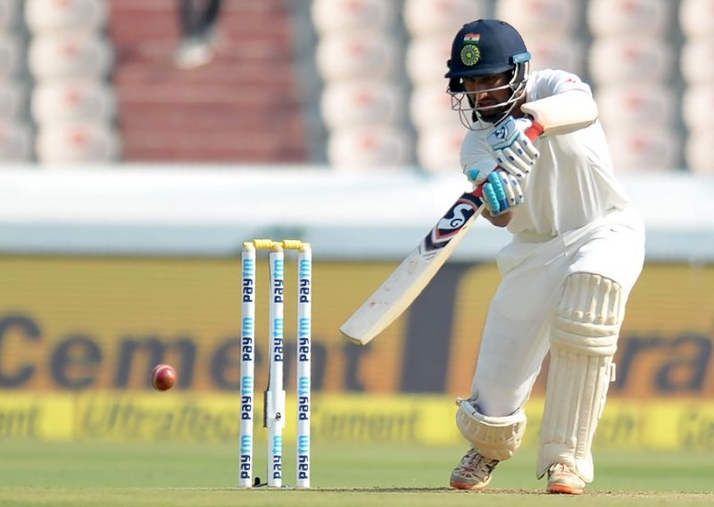 Cheteshwar Pujara: Cheteshwar Pujara may have missed out on a hundred but he made sure he had two half-centuries (82 and 50 not out) against his name. The Saurashtra right-hander, along side Murali Vijay, made sure that Indian middle-order had a solid foundation from where it could take off.  (Photo: AFP)