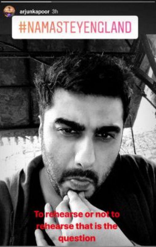 Arjun Kapoor's Instagram story.