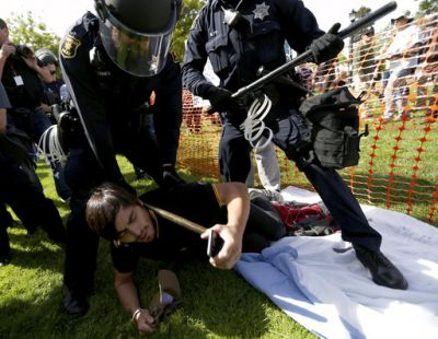 The Berkeley protests saw hundreds gather at a park, including Trump supporters who held a free speech rally, while opponents of the president's policies shouted and chanted. Several fights broke out. At least 21 demonstrators were arrested.