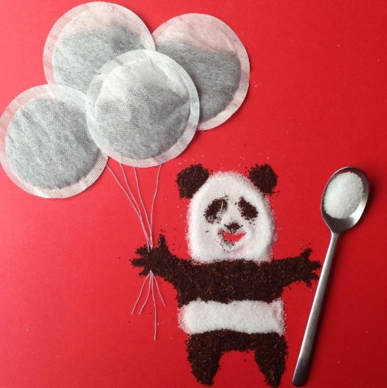 Here's a panda that every tea drinker will love.