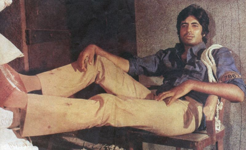 Amitabh Bachchan was immensely popular for his young angry man image.
