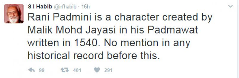 Padmavati row: Noted historian claims Rani Padmavati never existed in real