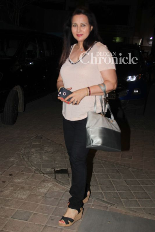 Poonam Dhillon was also among the celebrities seen at the screening.