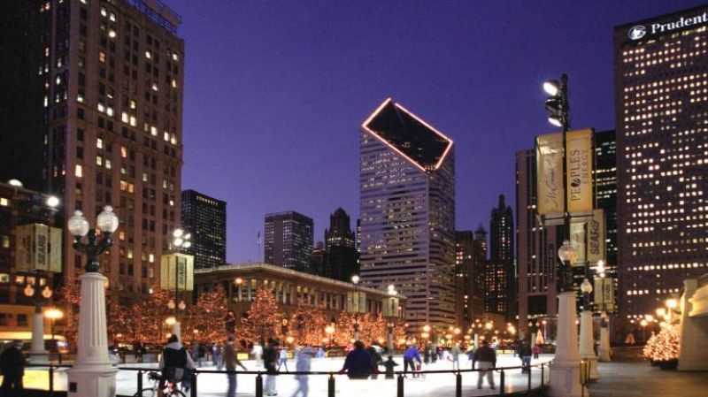Chicago's Magnificent Mile brightens up with lights on Michigan Avenue during the holiday season.