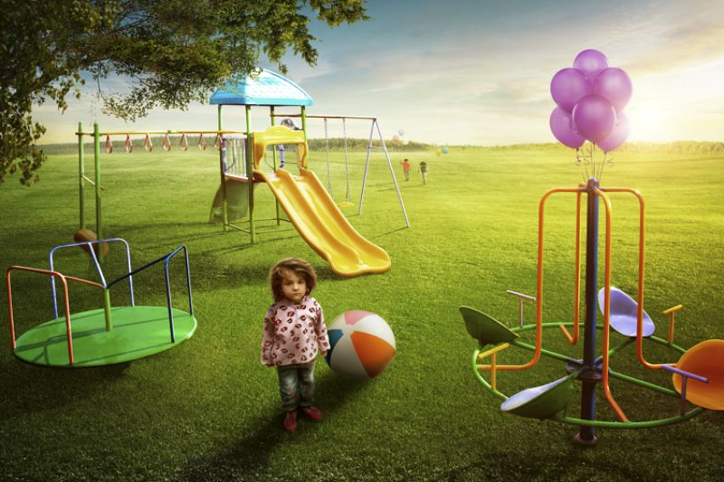 Every child likes to play in the park and there is nothing more a child would want.