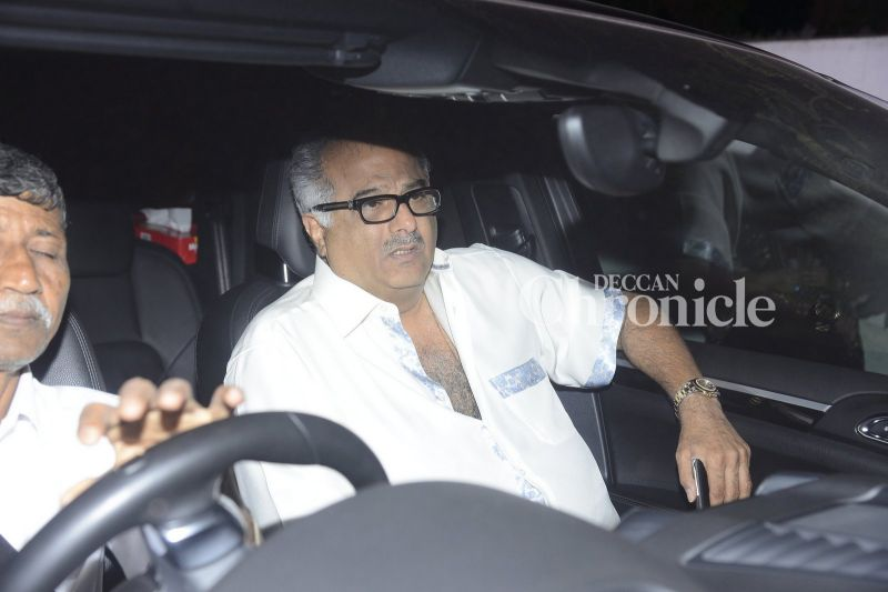 Boney Kapoor was also spotted.