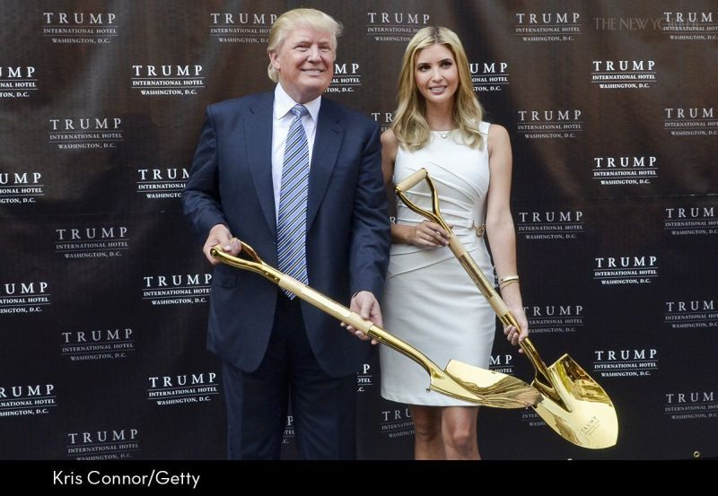 The Trump family was recently seen with two golden shovels and the internet could not help but make fun.