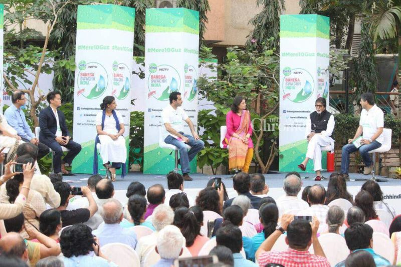 Bachchan also got involved in a panel discussion with eminent personalities.