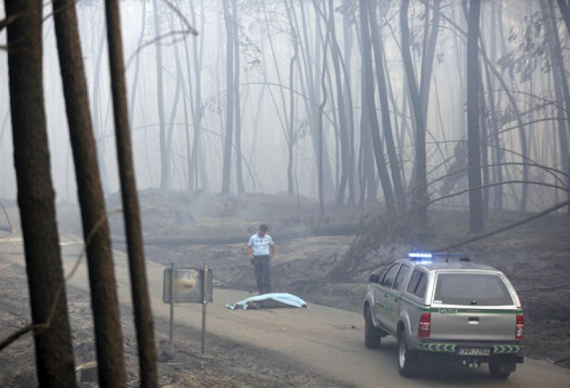 Police and firefighters were searching charred areas of the forest and isolated homes, looking for more bodies.