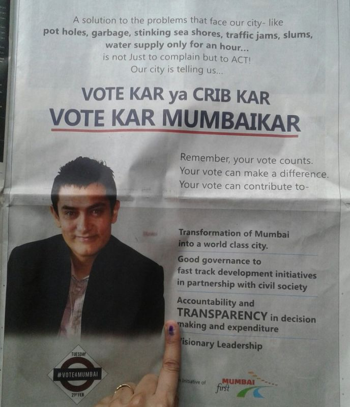 The ad urged voters to go out and vote. (Photo: Twitter)