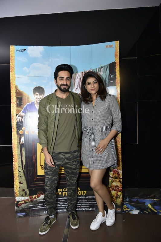 Ayushmann Khurrana came out with his wife Tahira.