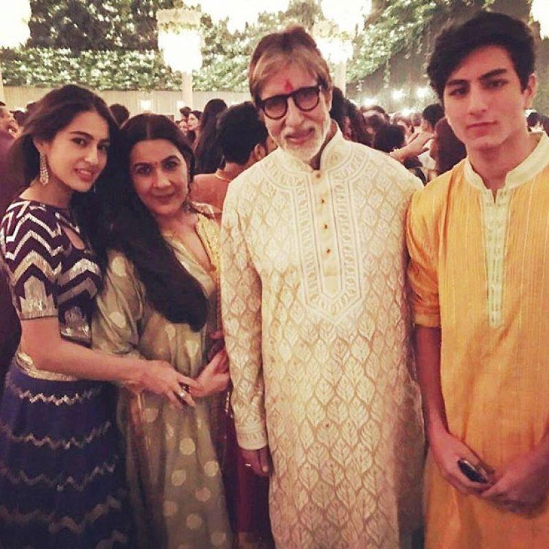 Sara and Ibrahim Ali Khan have a gala time at Amitabh ...