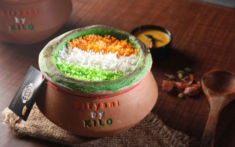 Tri colour biryani