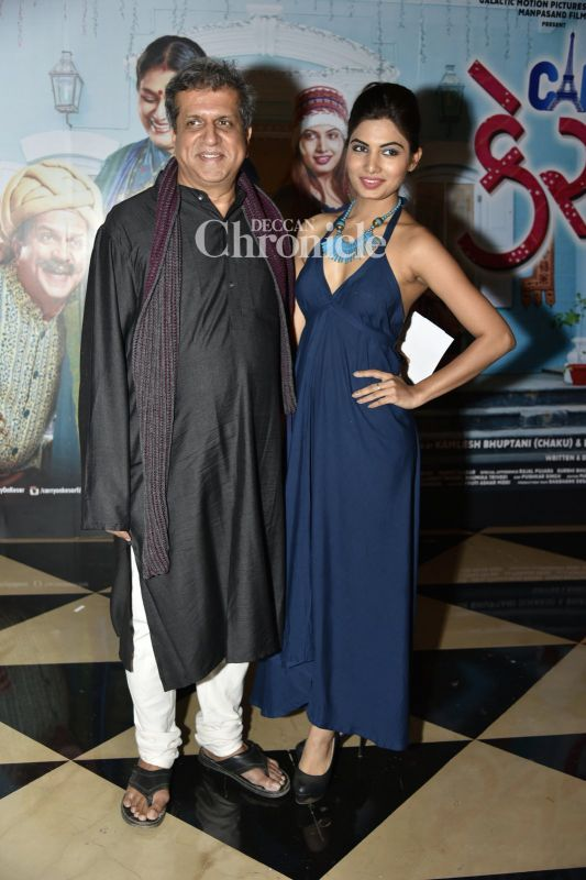 Darshan Jariwala and Avani Modi were seen at an event for the film 'Carry on Kesar'.