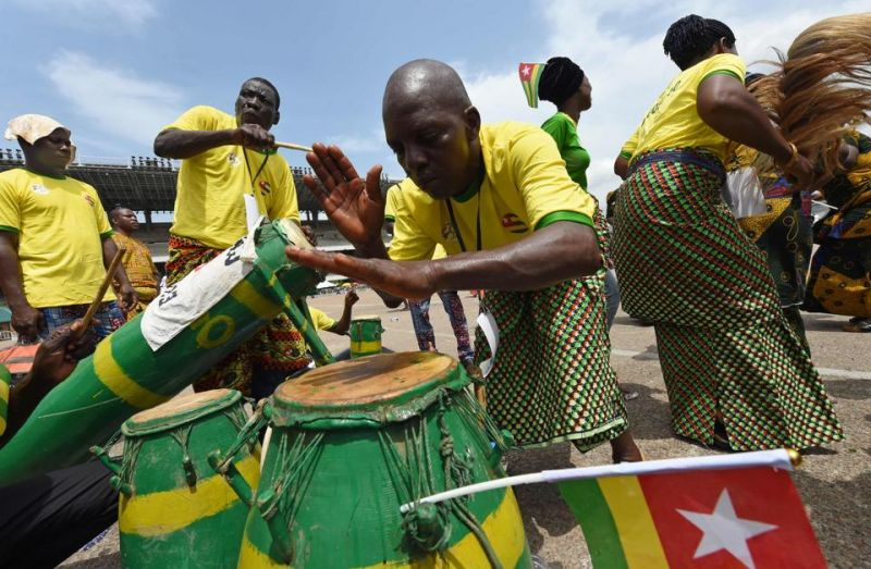 People from Togo perform during a carnival to mark 50 month-long celebrations.