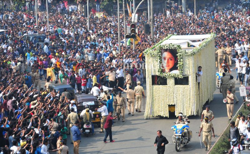 Sridevi's last rites