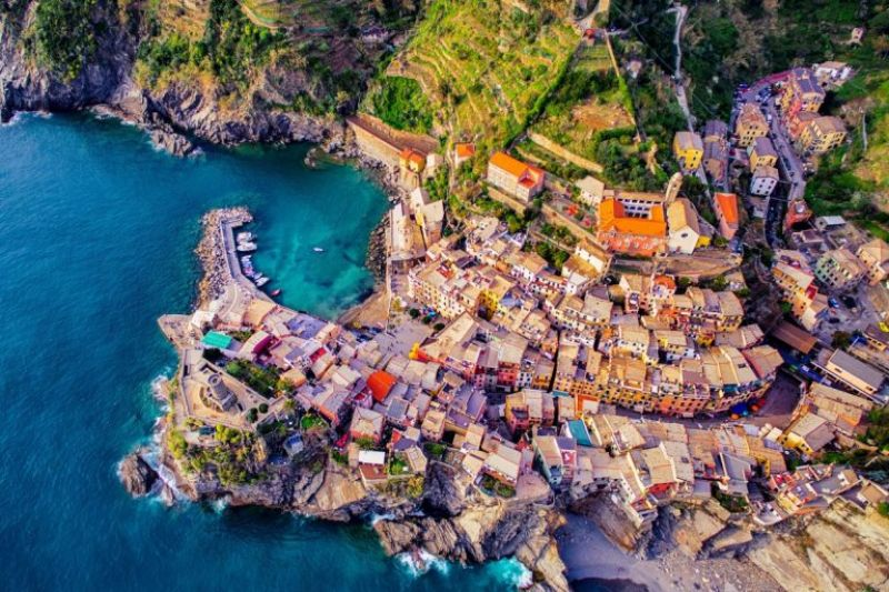 Vernazza, cinque terre, italy by jcourtial (Photo Courtesy: Dronestagram)