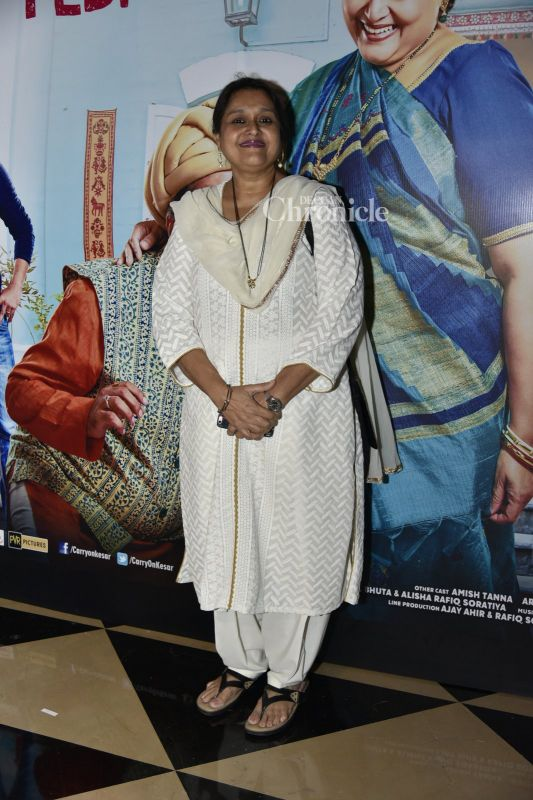 Supriya Pathak was also snapped at the event.