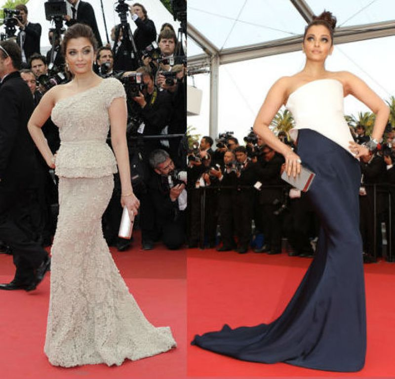 Cannes 2011: Aishwarya made a style statement with the Elie Saab one shoulder embroidered off-white gown  and a geometric Armani Prive gown, with her smokey eyes doing all the talking.