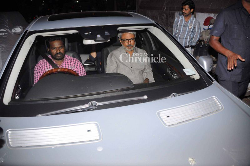 Sanjay Leela Bhansali, who had worked with Aishwarya in several films, was spotted arriving.