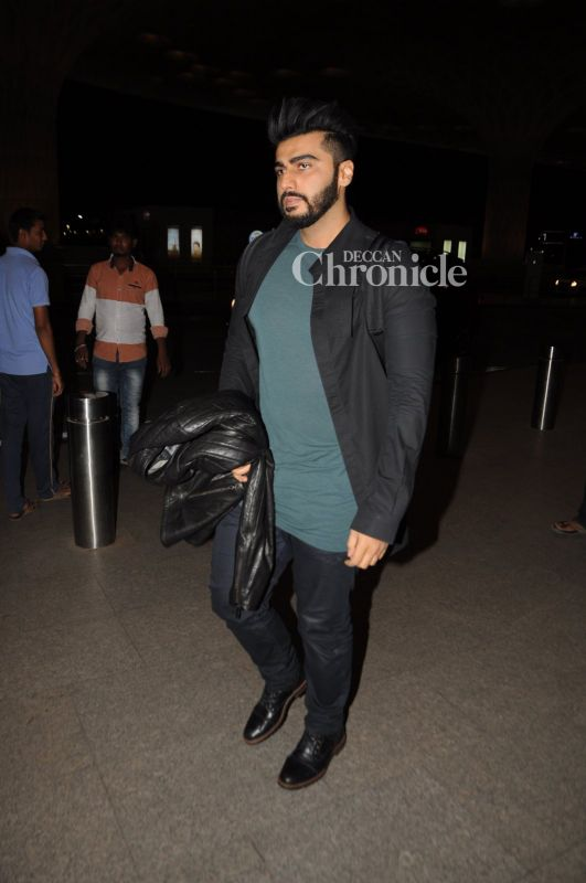 Arjun Kapoor was also snapped at the airport.
