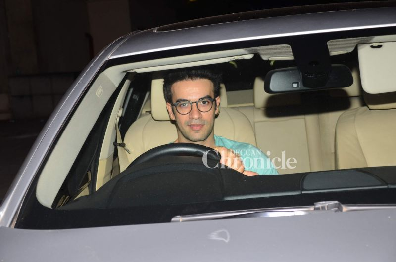 Punit Malhotra was also seen driving his way to the screening.