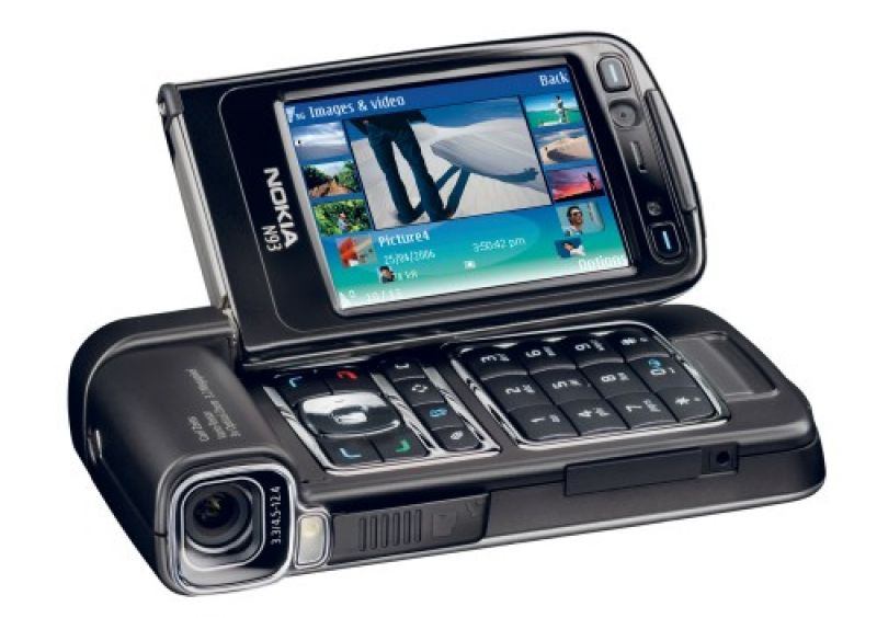 Nokia N93 was a phone cum video camera. It featured a 2MP Carl Zeiss camera with an LED flash.