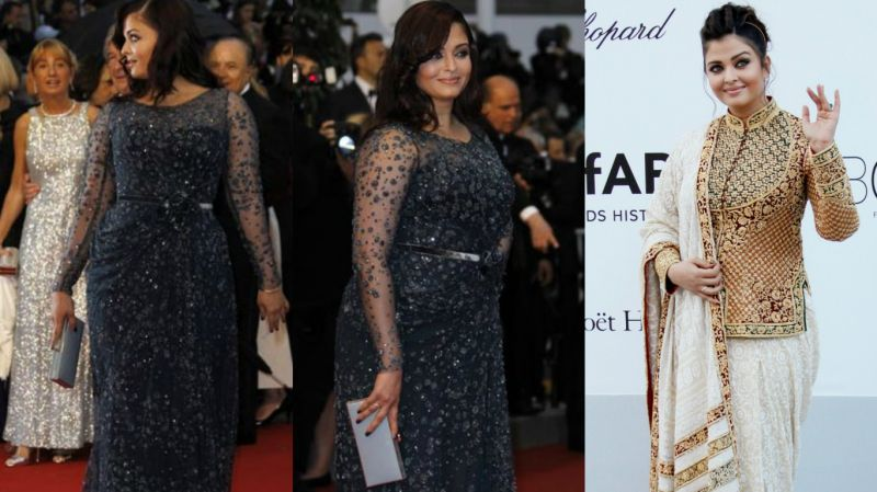 Cannes 2012: The actress got trolled for her weight gain post the birth of her daughter Aaradhya. Aishwarya, however, carried the shimmering grey Elie Saab