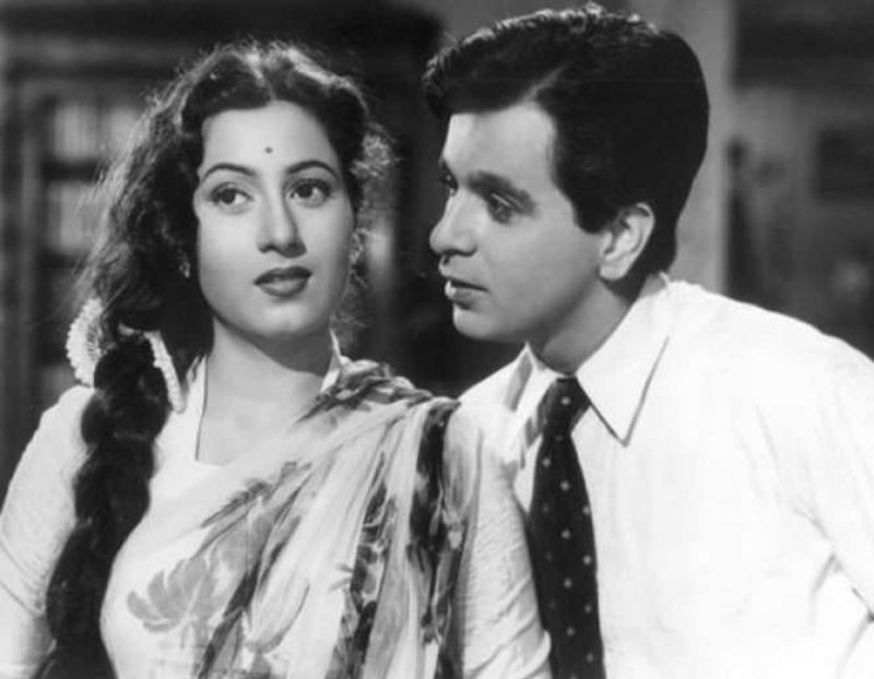 Madhubala with Dilip Kumar.