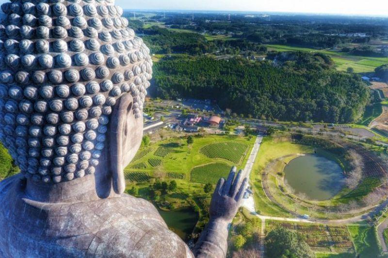 Big Buddha, Ushiku Daibutsuby, Japan by cliechti (Photo Courtesy: Dronestagram)