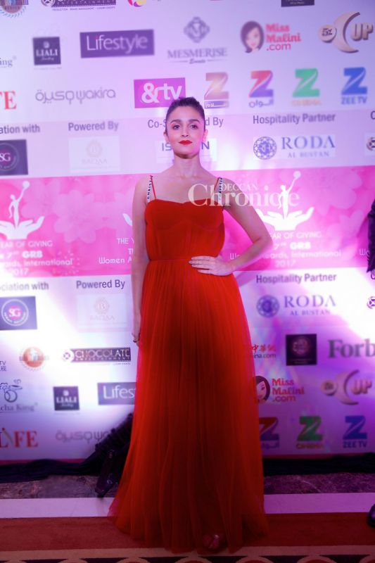Alia Bhatt was dressed in a stunning gown for the event.