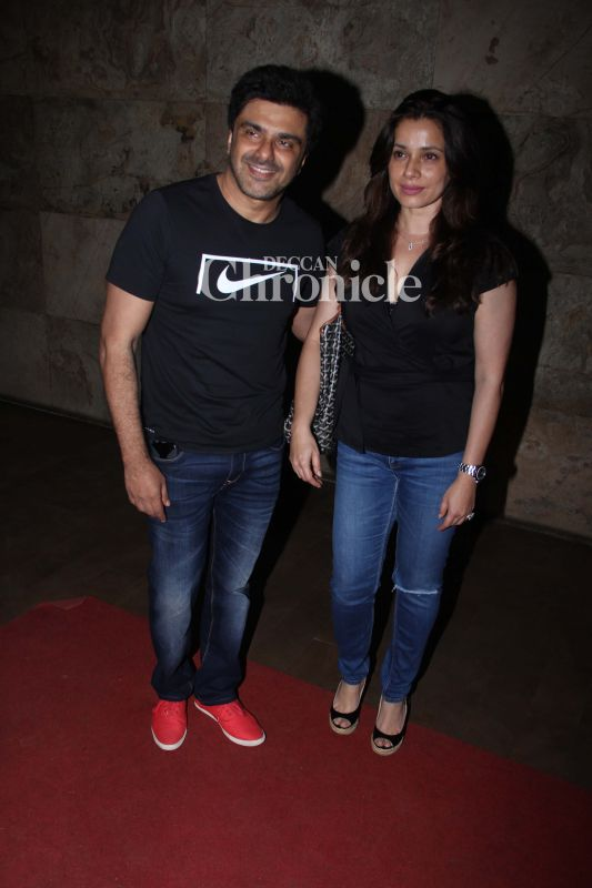 Samir Soni and Neelam Kothari Soni came together for the screening.