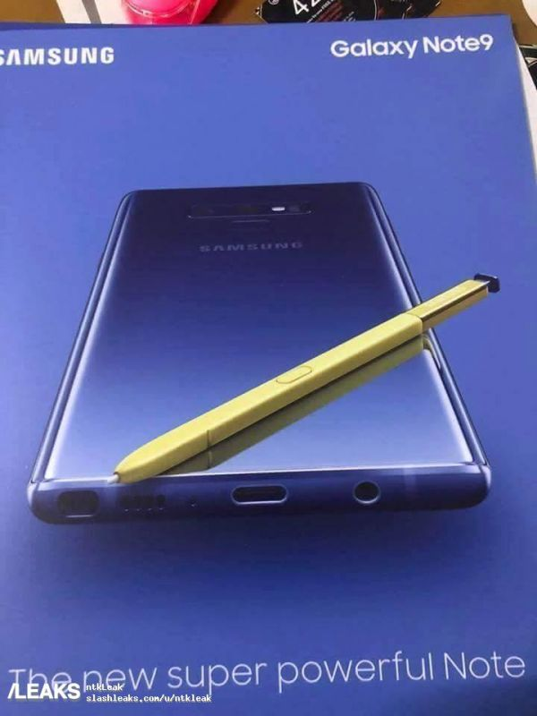 Samsung Galaxy Note 9 leaks