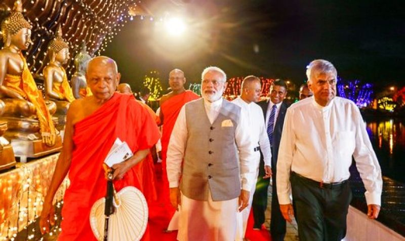 Before his departure to Lanka, Modi had said, 'My visit brings to the fore one of the most abiding links between India and Sri Lanka — the shared heritage of Buddhism.'