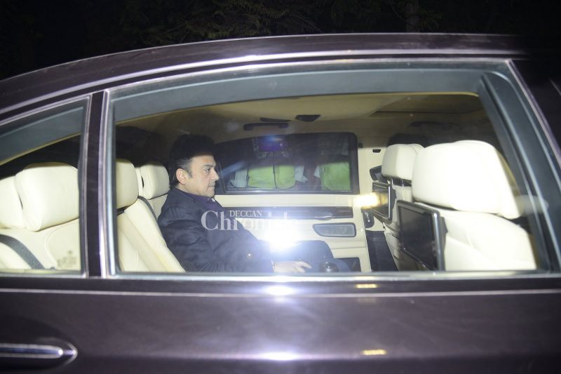 Adnan Sami was spotted in his car.
