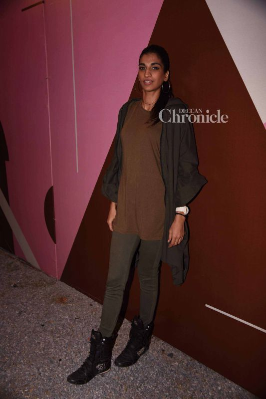 Anushka Manchanda was also snapped on the sidelines of the event.