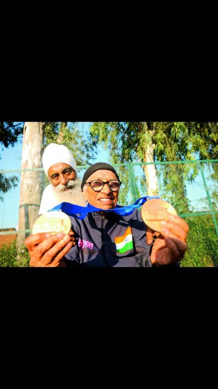 Man Kaur with son Gurdev Singh.
