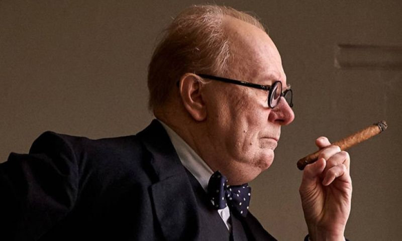Gary Oldman as Winston Churchill in 'Darkest Hour'.