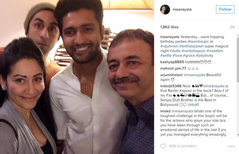 Ranbir Kapoor and Vicky Kaushal ring in Rajkumar Hirani's birthday