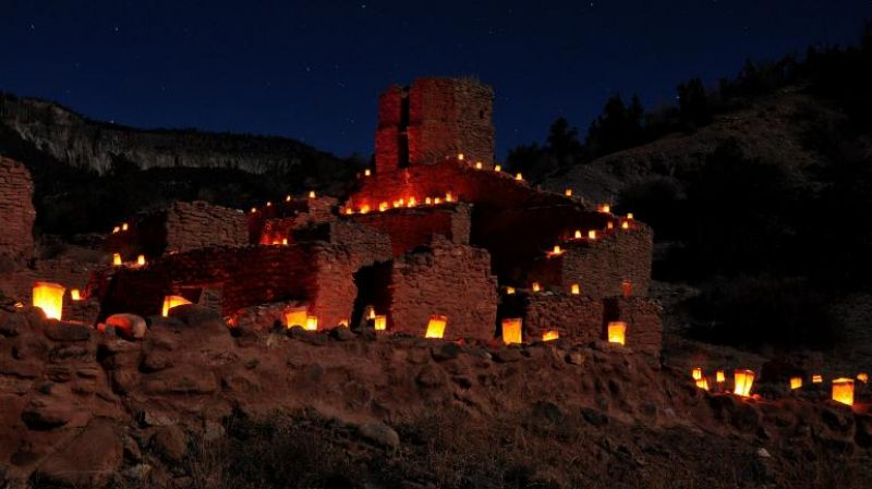 Spanish-inspired luminarias are part of culture-blending holiday celebrations in Taos