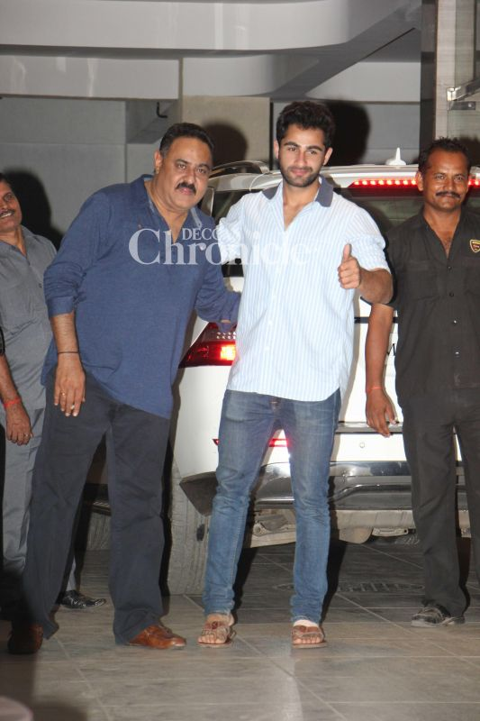 Rima Jain's husband Manoj Jain and son Armaan were also spotted at the bash.