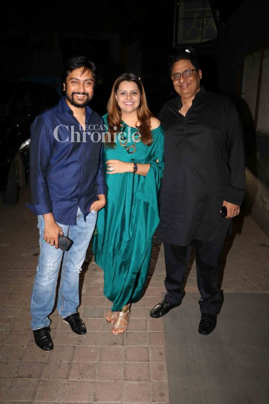 Vashu Bhagani, his daughter Deepshikha and her husband Dhiraj Deshmukh were also spotted at the screening.