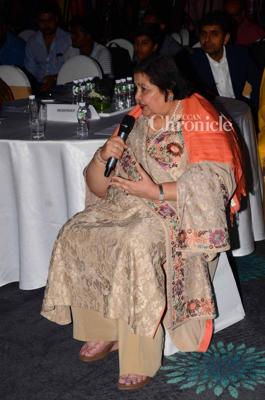 Yash Chopra's wife Pamela Chopra was also one of the guests at the event.